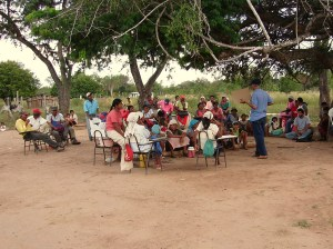 Reunión de planificación de miembros del Pueblo Angaité.